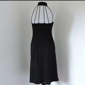 Classy Little Black Dress High Neck Midi Sz 10